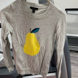 J crew pear wool sweater
